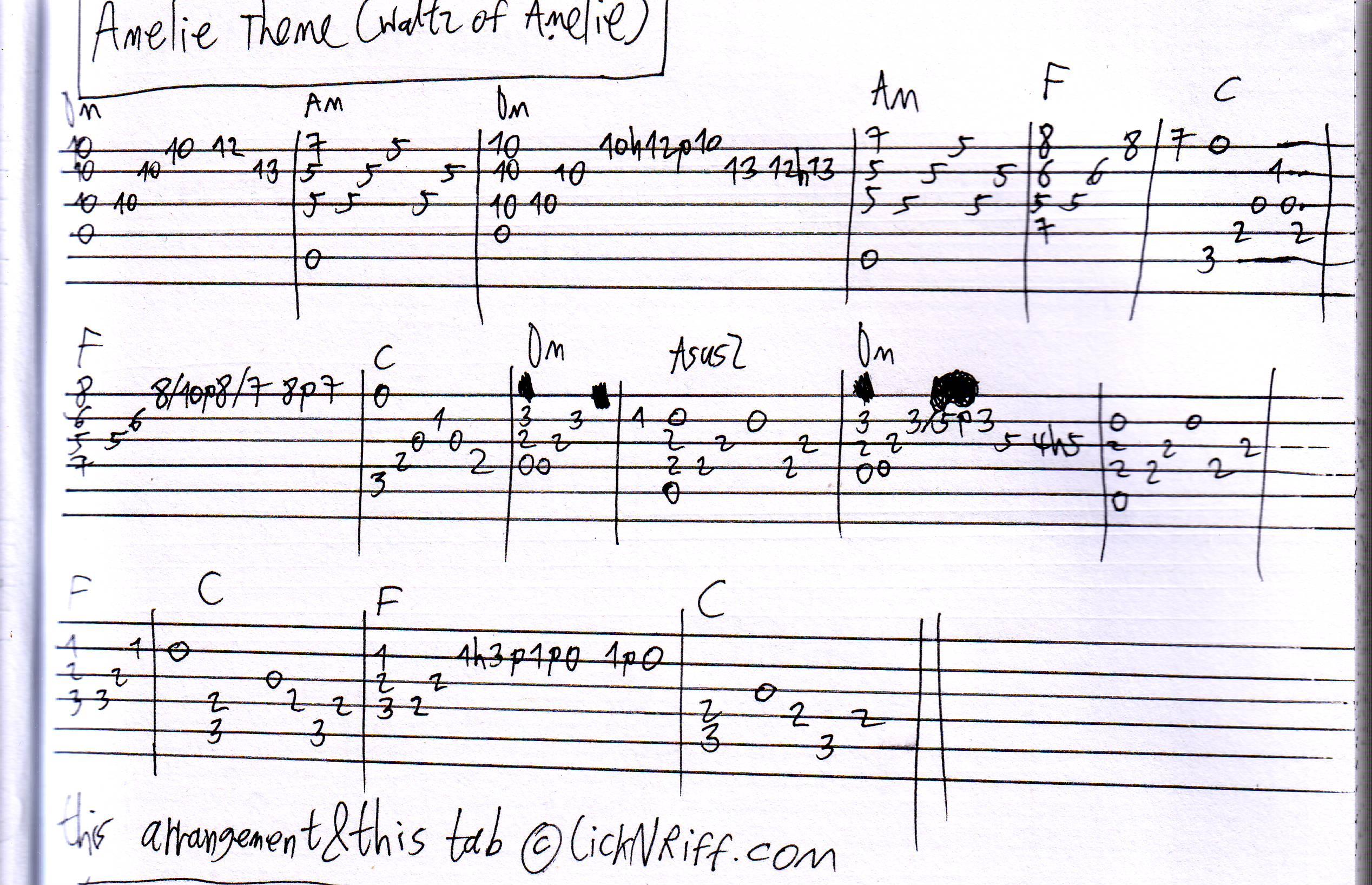 Lesson Amelie Theme Waltz Of Amelie Licknriff Create