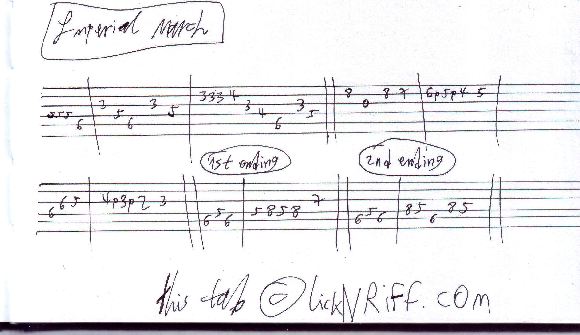 Imperial March (Darth Vader Theme) u00ab LickNu0026#39;Riff u2013 Create Your Own Guitar Legacy