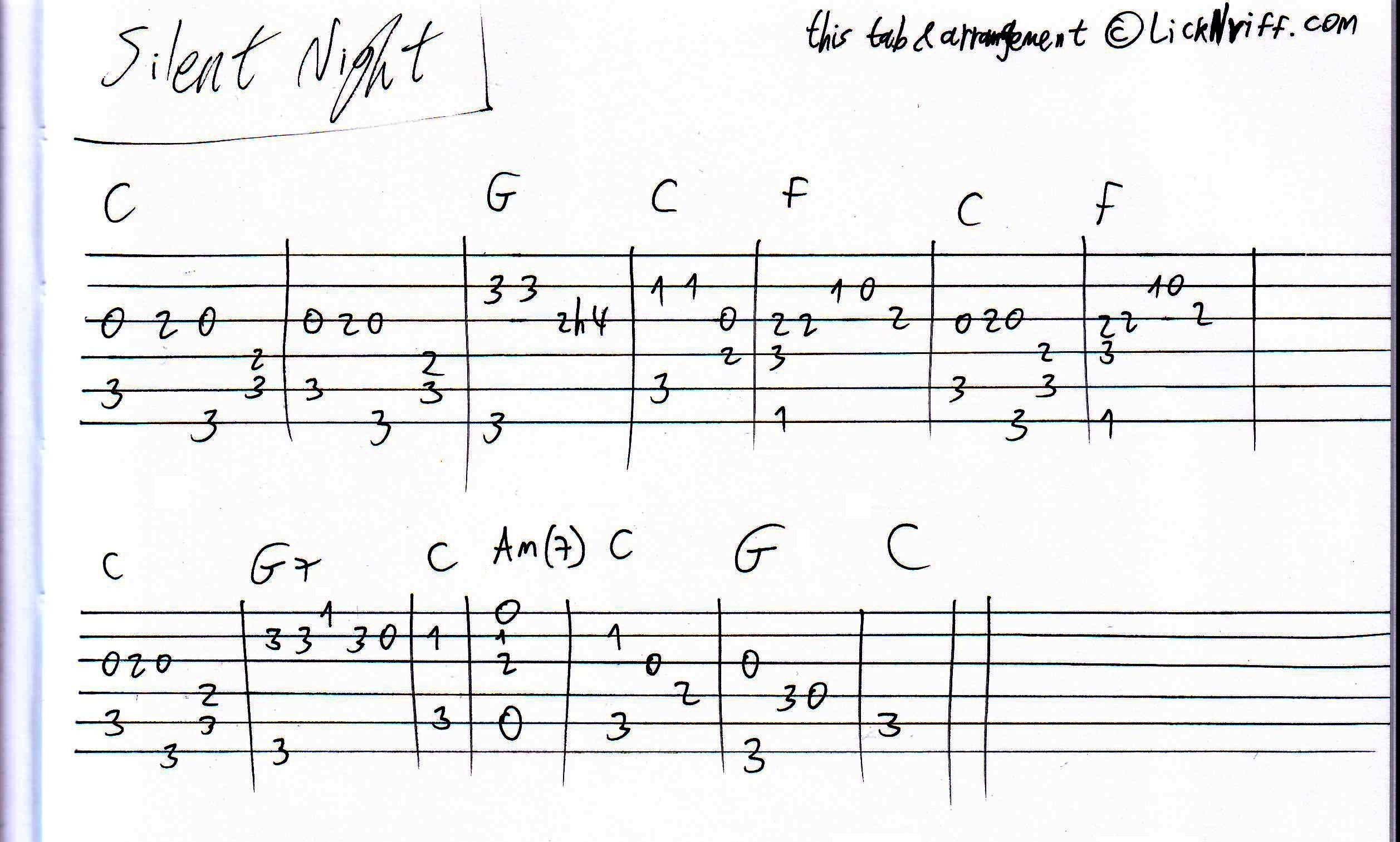 Silent Night « LickN'Riff – Create Your Own Guitar Legacy