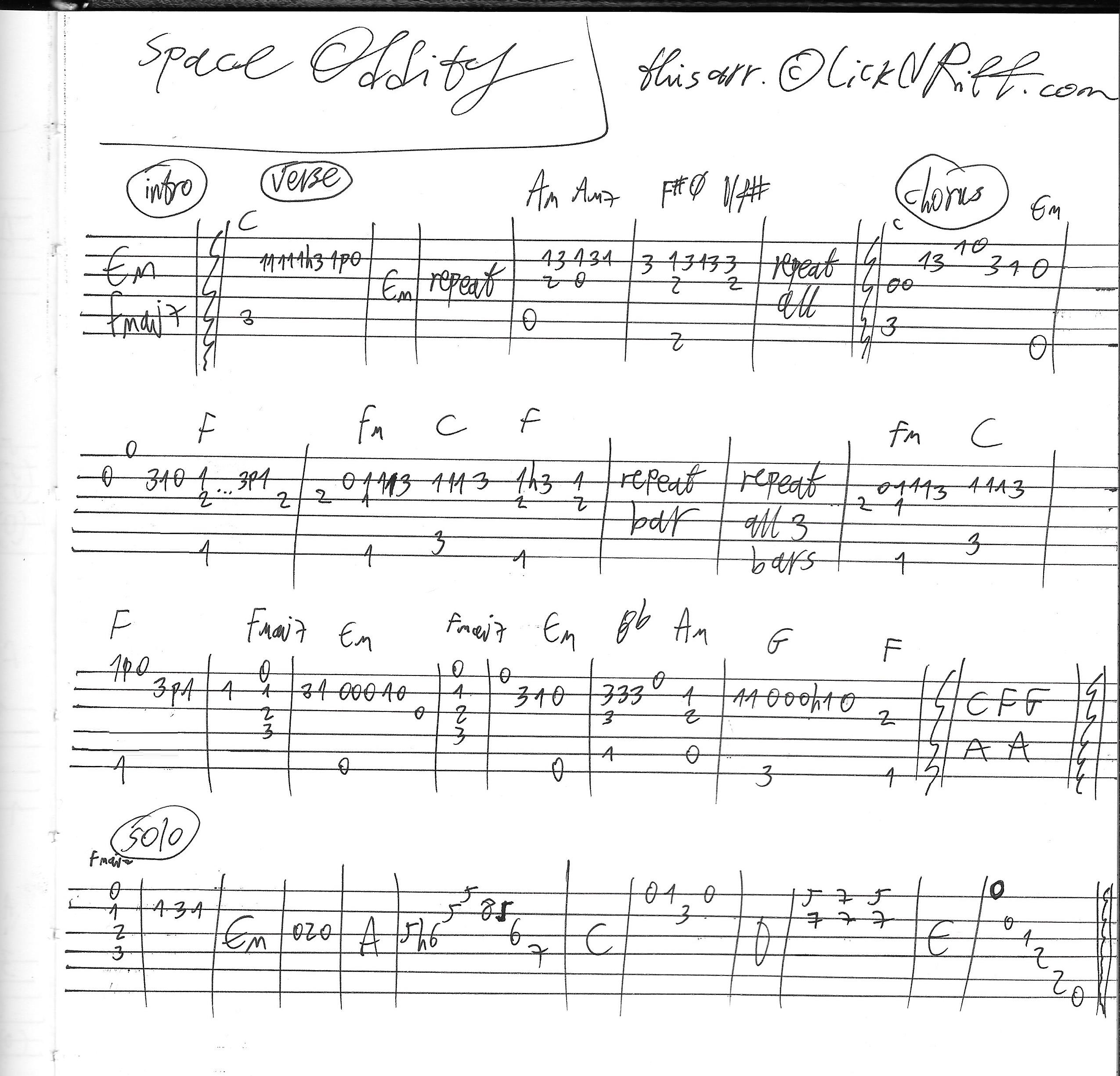 Space Oddity Sheet Music Mersnoforum