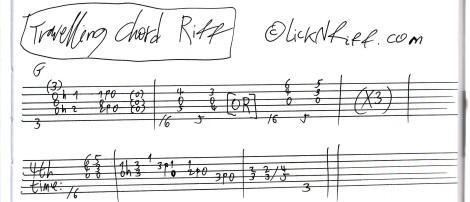 Travelling Chord Riff