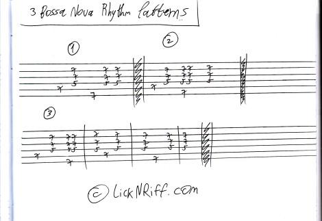 3 Bossa Nova Rhythm Patterns