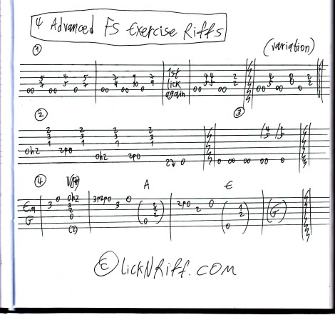 4 Advanced FS Exercise Riffs
